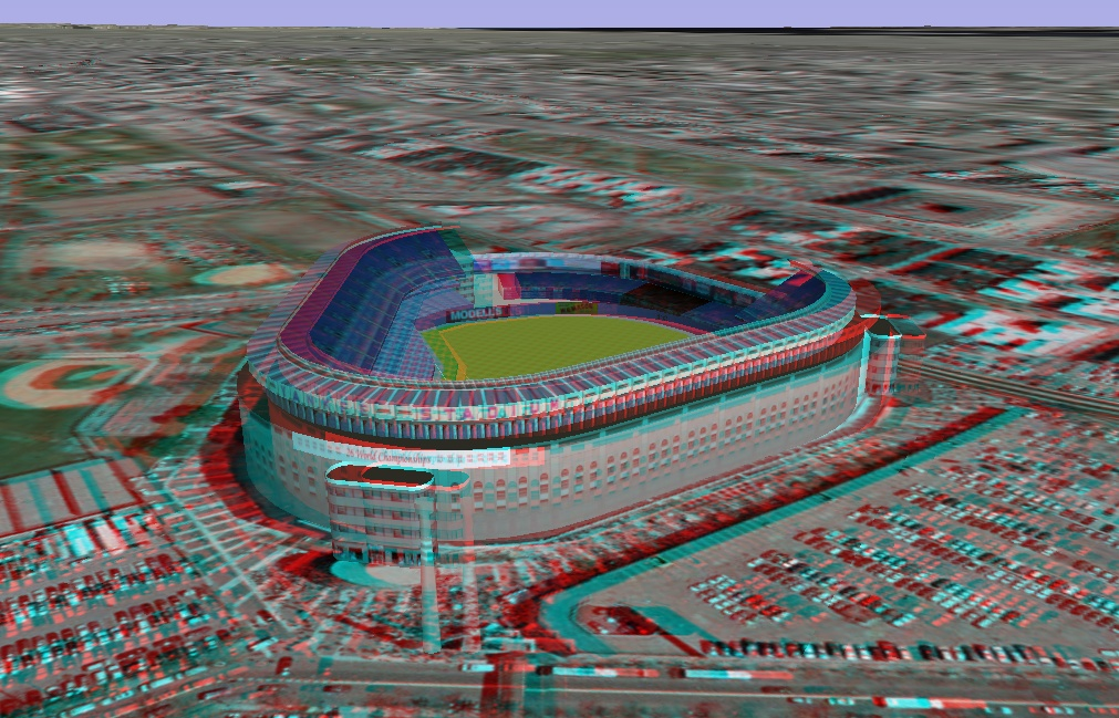 3D - anaglyph - Yankee Stadium - New York