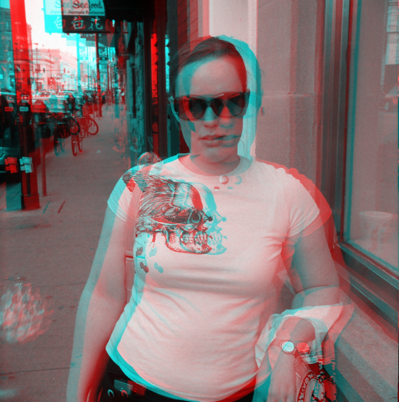 anaglyph - 3D girl