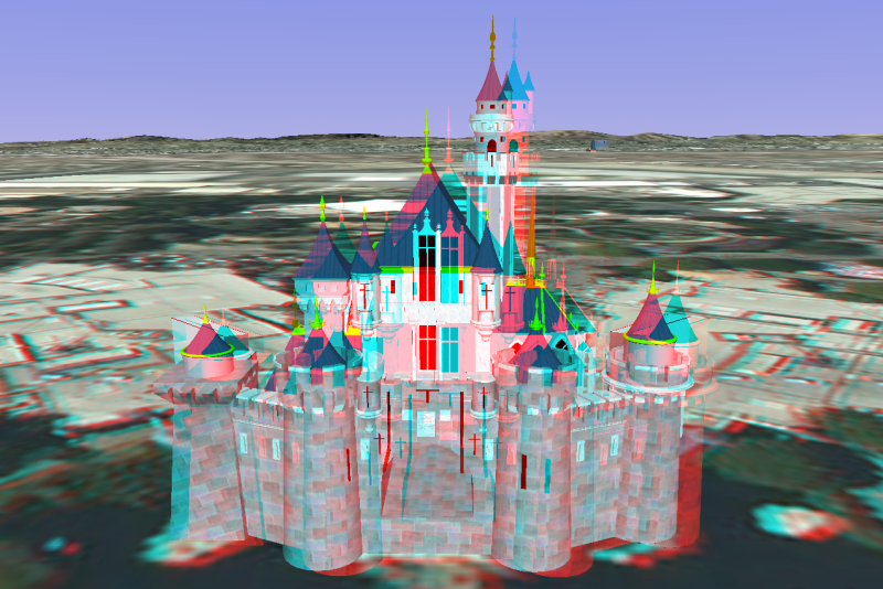 anaglyph - Disneyland Sleeping Beauty Castle